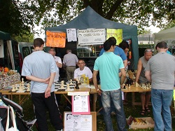 Wolverhampton Chess Club Stall at Wolverhampton Show.