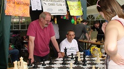 Wolverhampton Chess Club Stall at Wolverhampton Show