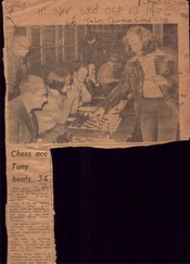 Tony Miles playing Simul against Wolverhampton Chess Club Members Oct 12 1976