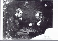 James Fellows and Samuel James Fellows playing chess c 1880